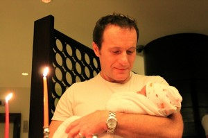 Rabbi Steven Greenberg's partner, Steven Goldstein, with his daughter Amalia.