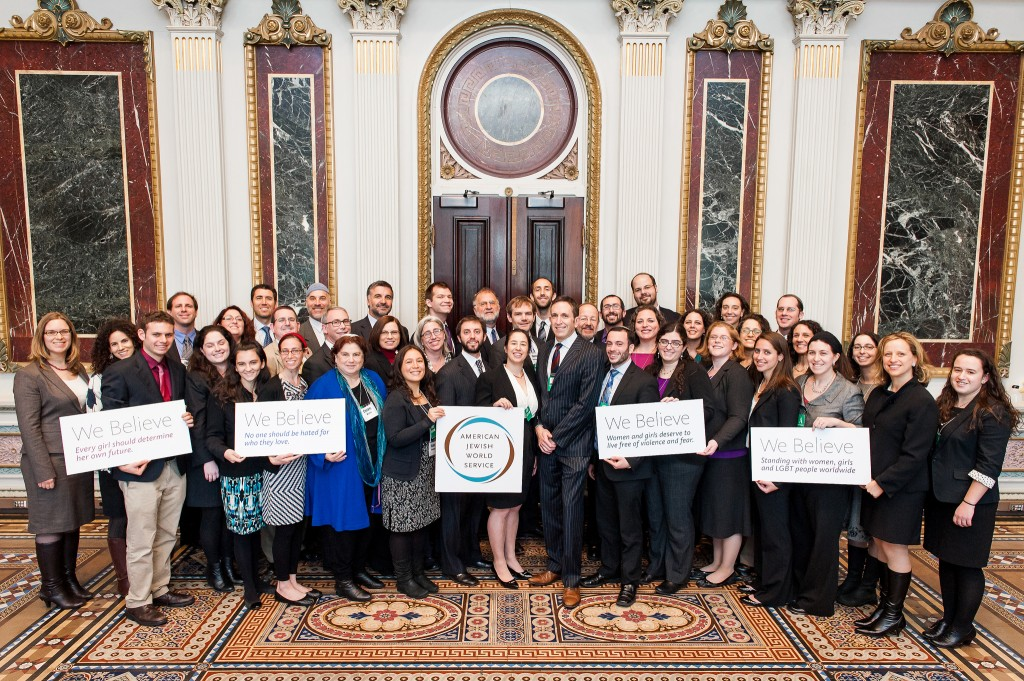 AJWS's rabbinic delegation at the White House. Photo Credit: Mike Kandel