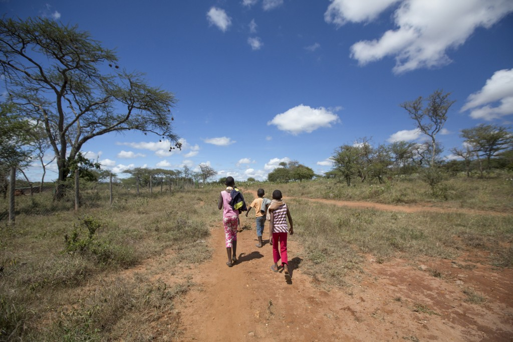 Masai children in Kenya