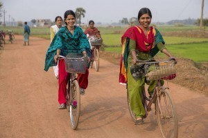 Sonali rides home with her friends from the MBBCDS school.