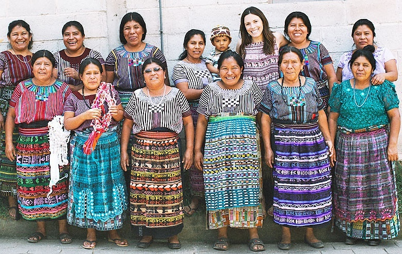 Hannah Skvarla with artisans from The Little Market