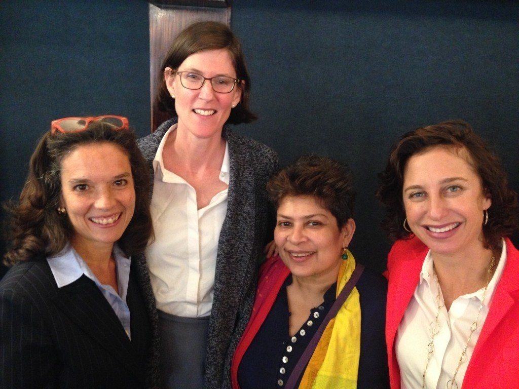 From left to right: Shari Turitz (AJWS), Margaret Greene (GreeneWorks), Bishakha Datta (Point of View) and Dena Kimball (Kendeda Fund).