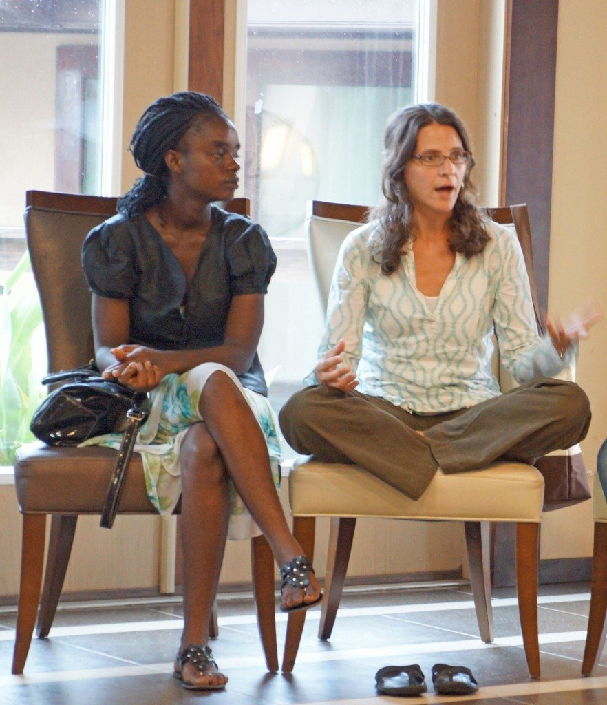 On an AJWS Study Tour to Liberia in 2012, Rabbi Sharon Brous inspired thought and dialogue about the Jewish commitment to justice. Photo by Cathe Kobacker.