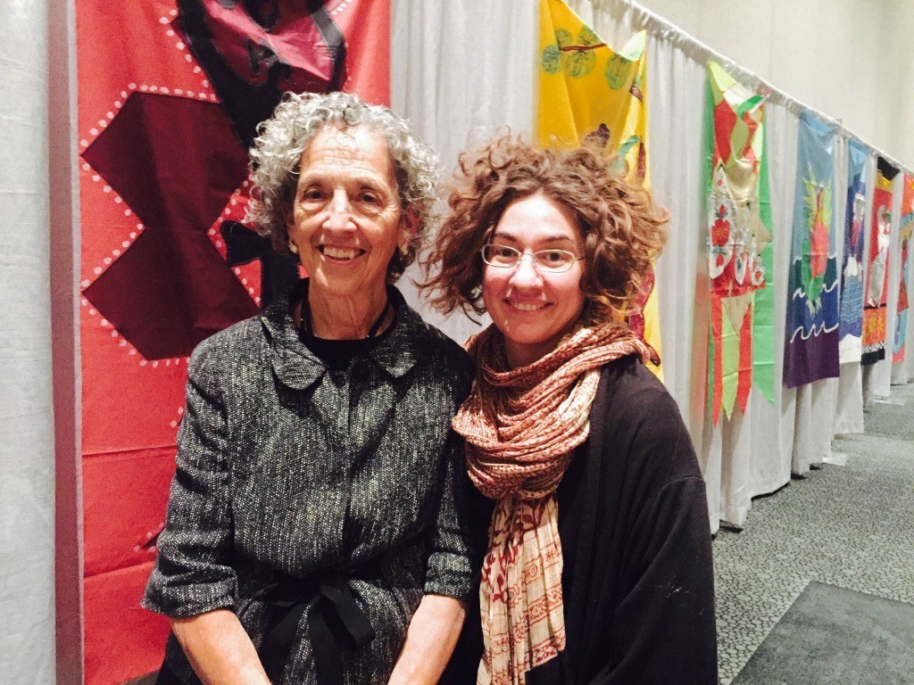 Ruth Messinger with her granddaughter Giuliana Serena at Parliament 2015