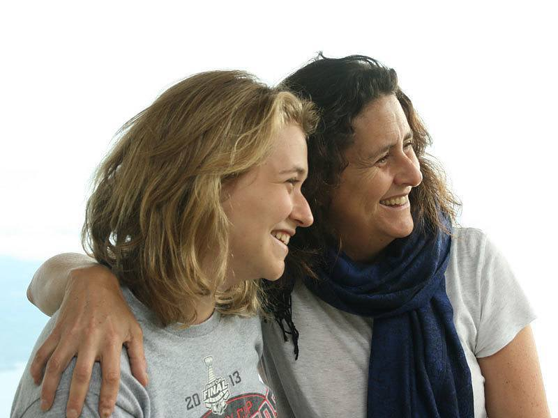 Gigi Pritzker Pucker and Abby Pucker on an AJWS Study Tour to Guatemala in 2015. Photograph courtesy of Gigi Pritzker Pucker.