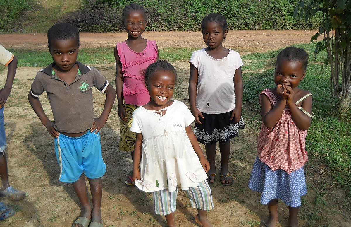Children orphaned by Ebola