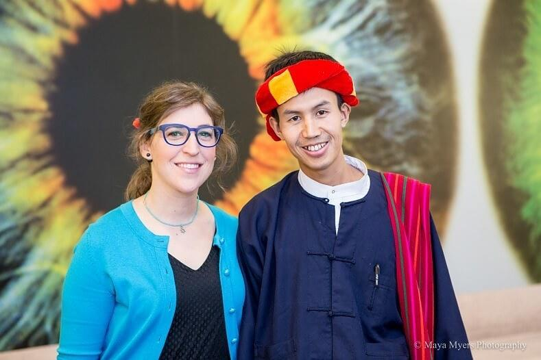 Mayim Bialik and Khun Khit San. Photo courtesy of Grok Nation.