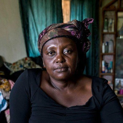Rebecca Nurse of Buchanan, Grand Bassa County, lost her husband to Ebola. BAWODA staff have been helping Rebecca cope with her grief.
