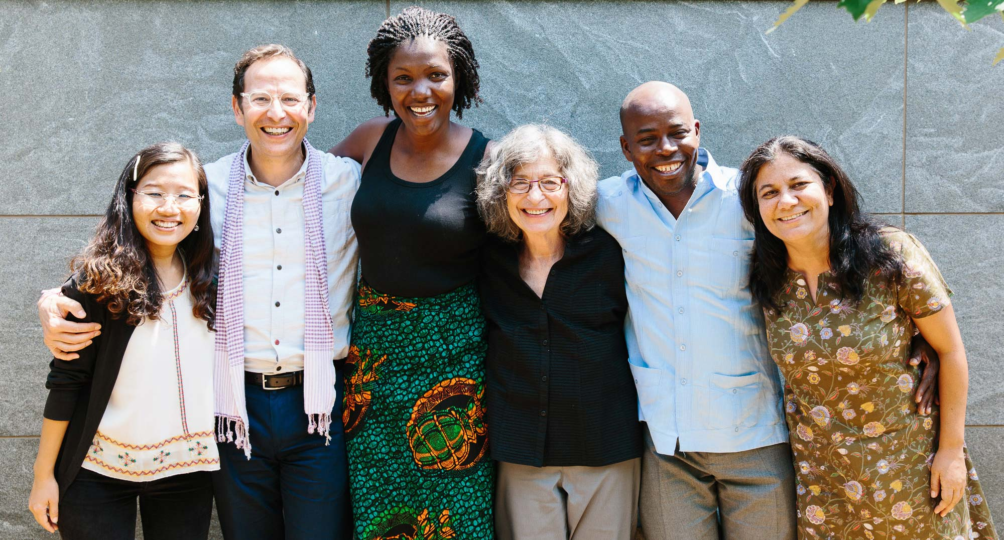 Left to right: Ah Noh, Robert, Caroline, Barbara, Boumba and Praneeta
