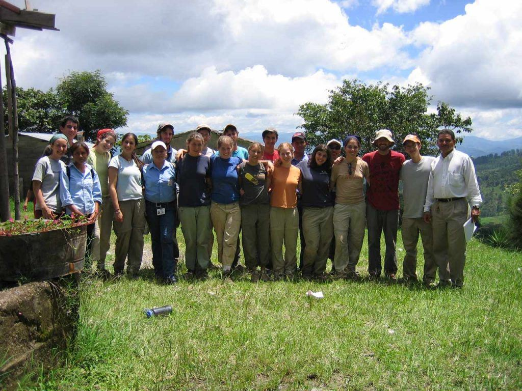 Josh Kahn and other participants in AJWS's Volunteer Summer program in Honduras in 2005. Photo courtesy of Josh Kahn