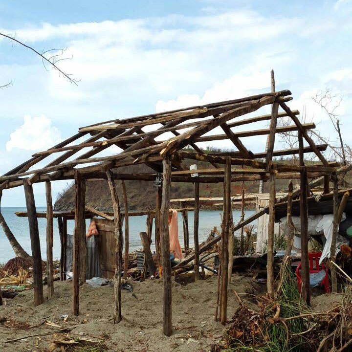 A destroyed home in Les Irois, Department of Grand'Anse in southern Haiti. Photo by Nixon Boumba