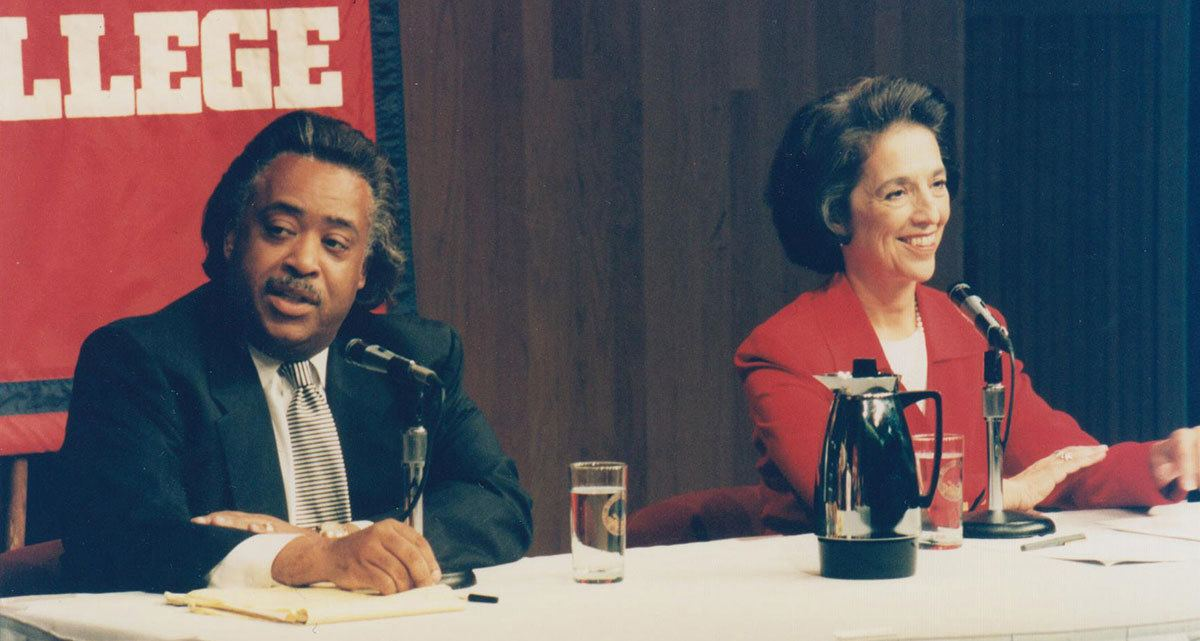 Ruth Messinger and Rev. Al Sharpton face off at a New York City Democratic mayoral debate in 1997. Ruth ultimately won the primary against the famous civil rights activist, Baptist minister and television and radio host.