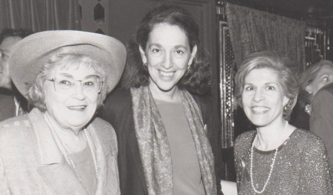 "Ruth Messinger (center) with the late Bella Abzug—lawyer, U.S. Congress member, champion of women's rights and leading social activist in the '60s and '70s—and Trudy Mason, a longtime New York State Democratic Committee member and leader. Ruth volunteered on several of Abzug's political campaigns and remembers her as ""a character and a half"" during those periods."