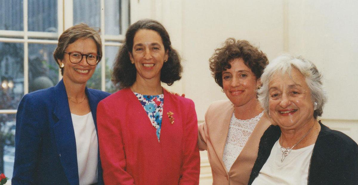 Four famed feminists in the early '80s: Carol Bellamy, the first woman ever elected to citywide office (City Council) in New York; Ruth Messinger, the first woman to receive the Democratic nomination for mayor in New York City; Ellen Chesler, then-Bellamy's chief of staff and a passionate supporter of women political leaders; and the late Betty Fridan, a leading figure in the second wave of American feminism in the 20th century.
