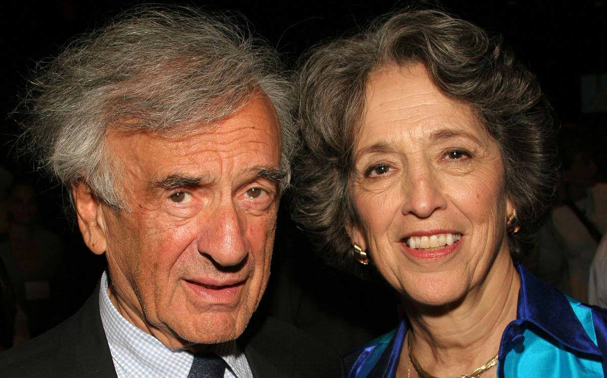 Ruth Messinger and the late Elie Wiesel, writer, professor, political activist, Nobel Laureate, Holocaust survivor and AJWS founding board member, at an AJWS event.