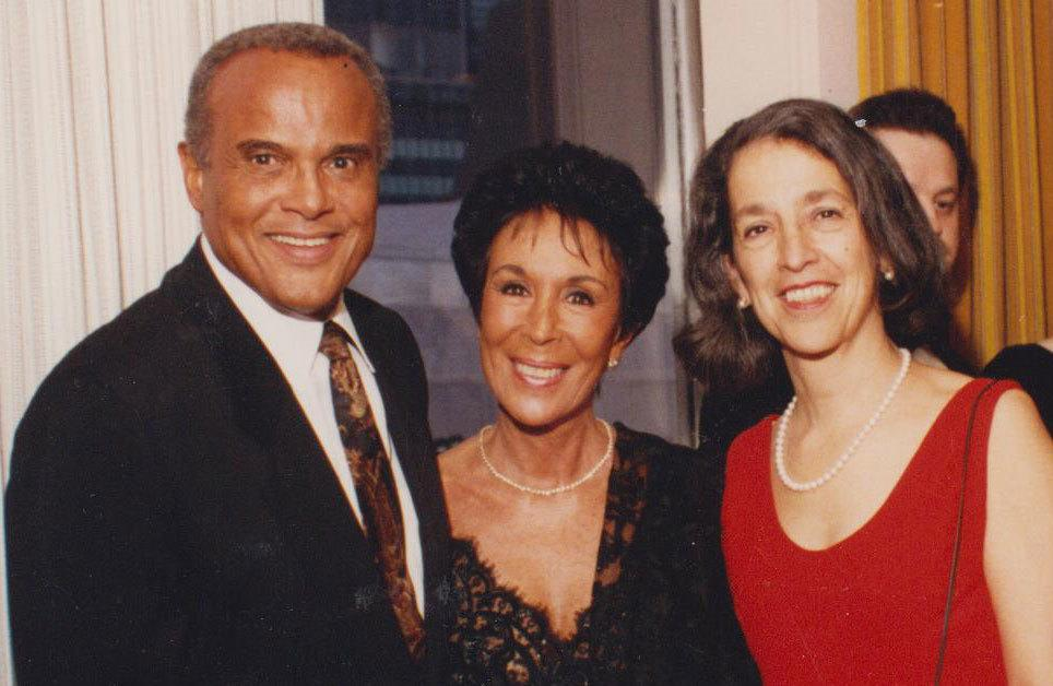 Ruth Messinger (right) with singer, songwriter, actor and activist Harry Belafonte and his then-wife Julie Robinson, a dancer, actress and costume designer, in the 1980s. The couple supported Ruth's run for Manhattan Borough President. Photograph by Jerry Ruotolo