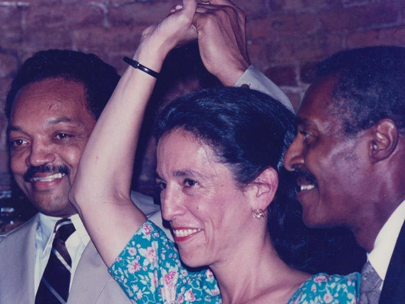 Ruth Messinger with Jesse Jackson
