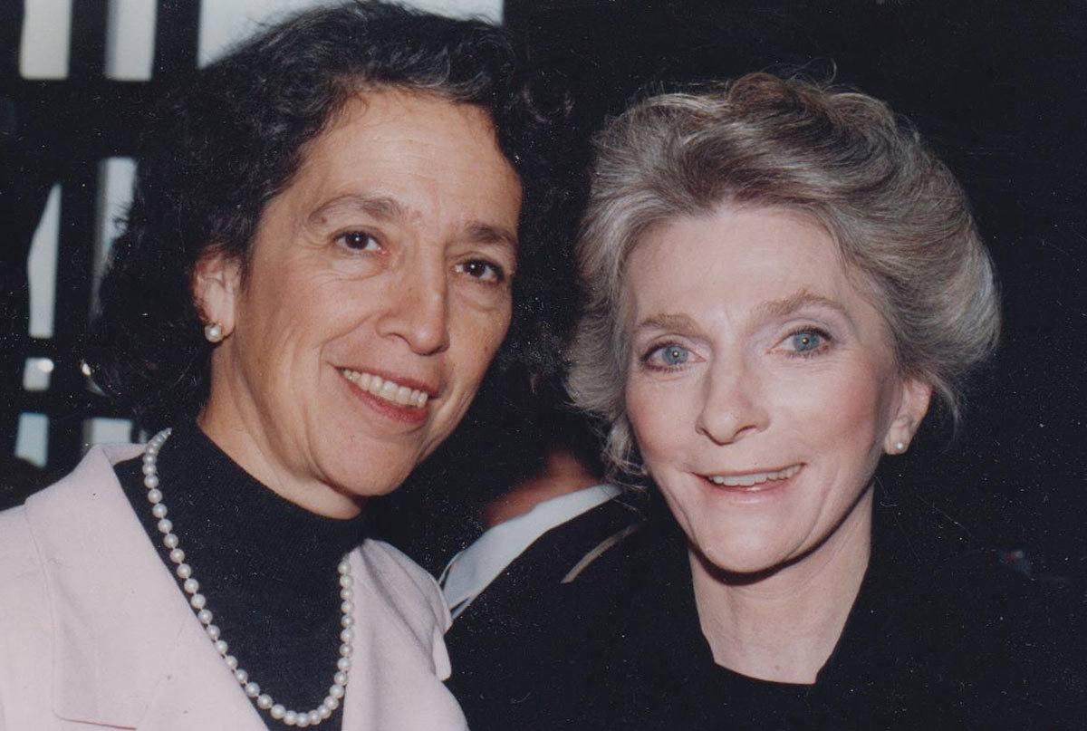 Ruth Messinger with singer, songwriter and activist Judy Collins in 1988. Photograph by Star Black