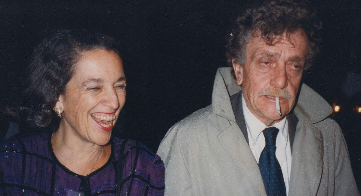 Ruth Messinger and the prolific, acclaimed American writer Kurt Vonnegut in the 1980s.