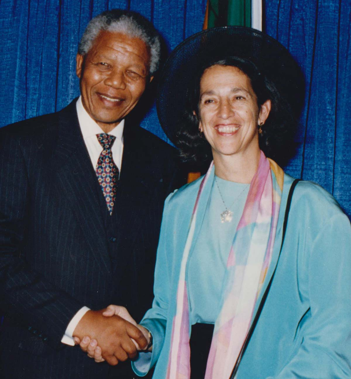Ruth Messinger meeting the late anti-apartheid activist Nelson Mandela at New York City Hall after his 1990 release from 27 years in prison.