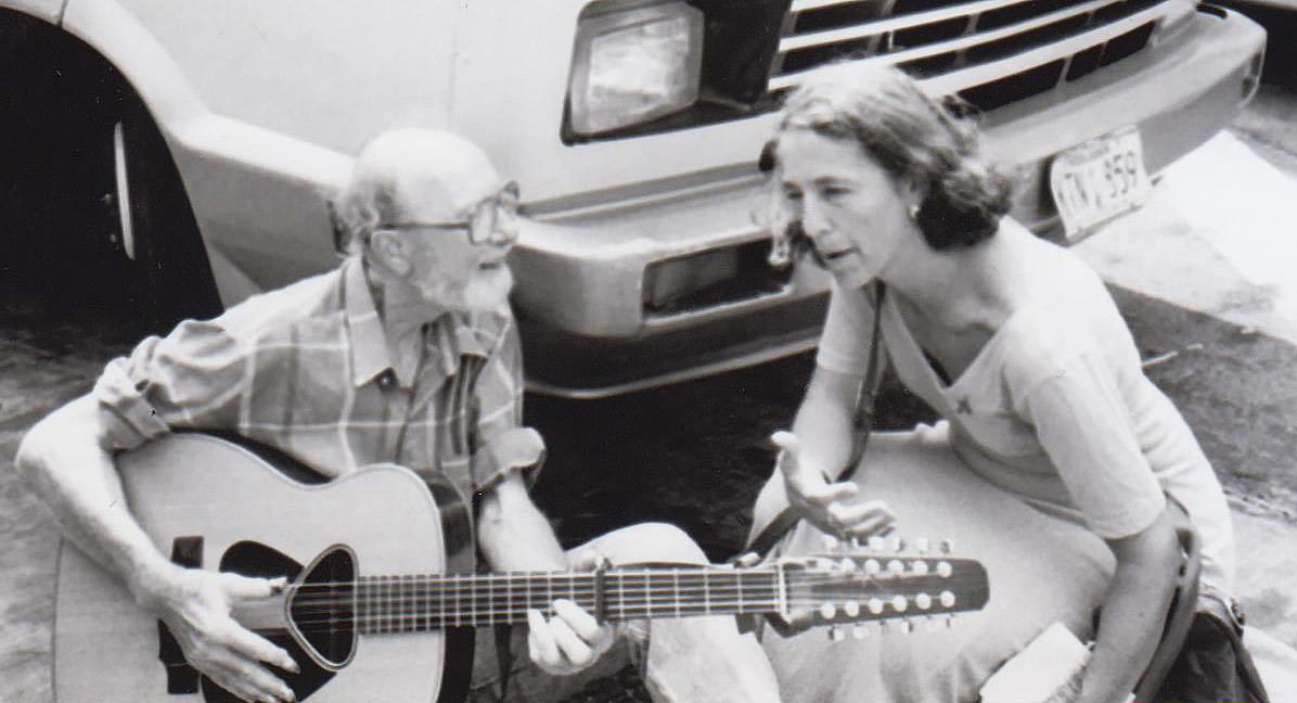 Ruth Messinger with legendary folk singer and social change activist Pete Seeger.