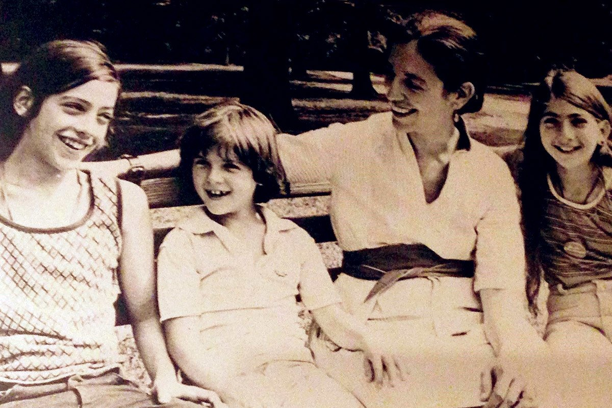 Ruth Messinger with her children, Daniel, Adam and Miriam, in Central Park in 1977.