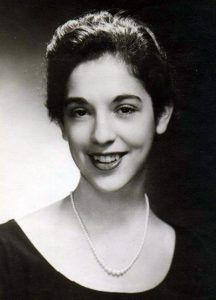 Ruth Messinger as a high school graduate.