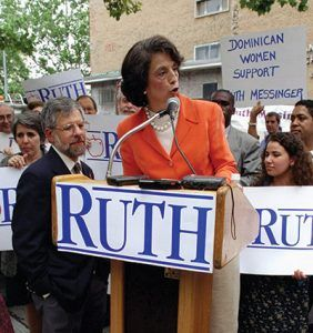 Ruth Messinger announcing her candidacy for mayor during a news conference on the Lower East Side in 1989. Photograph by Misha Erwitt/NY Daily News Archive via Getty Images