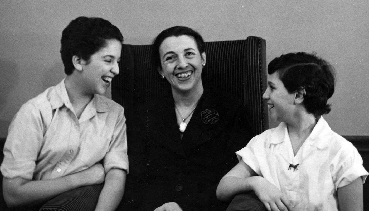Ruth Messinger (left) with her mother and sister.