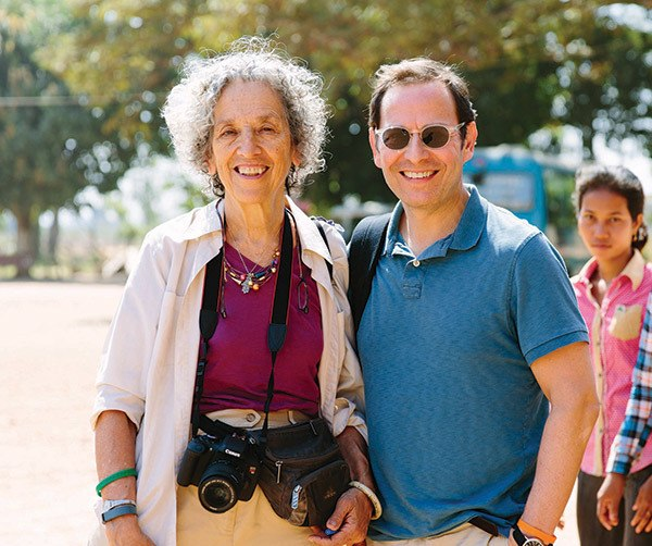 Ruth Messinger and Robert Bank in Cambodia in 2016. Photograph by Christine Han