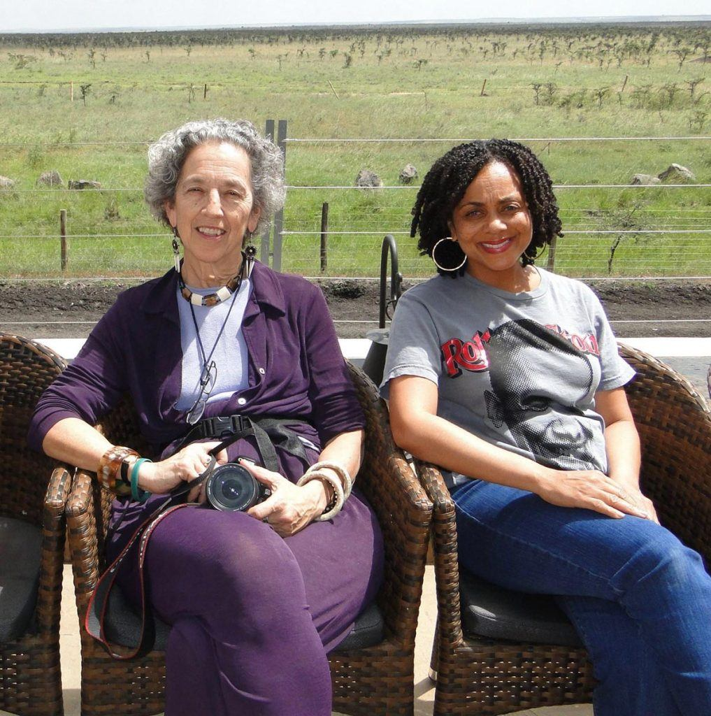 Felicia Horowitz with Ruth Messinger in Uganda, 2010.