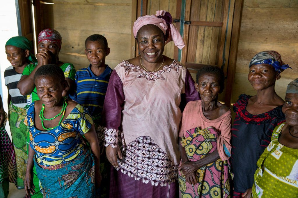 Julienne Lusange visiting beneficiaries of her organization SOFEPADI in Beni, Dmecratic Republic of Congo. Photo by Jonathan Torgovnik