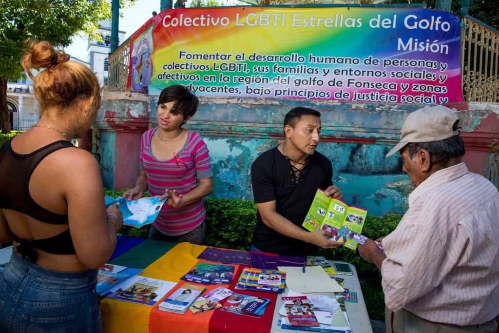 Estrellas engages community members on LGBTI issues.